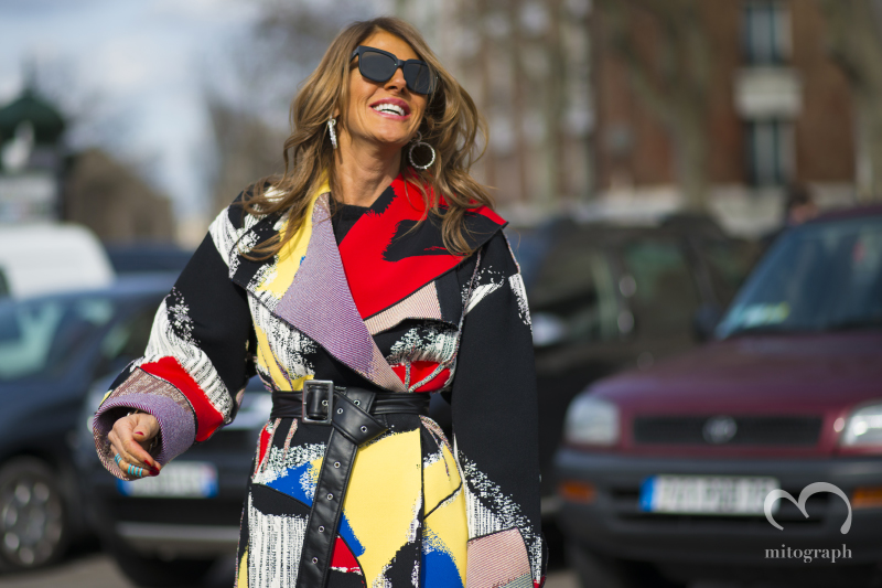Vogue Japan Creative Consultant Anna Dello Russo at Celine show during Paris Fashion Week 2014 Fall Winter Season