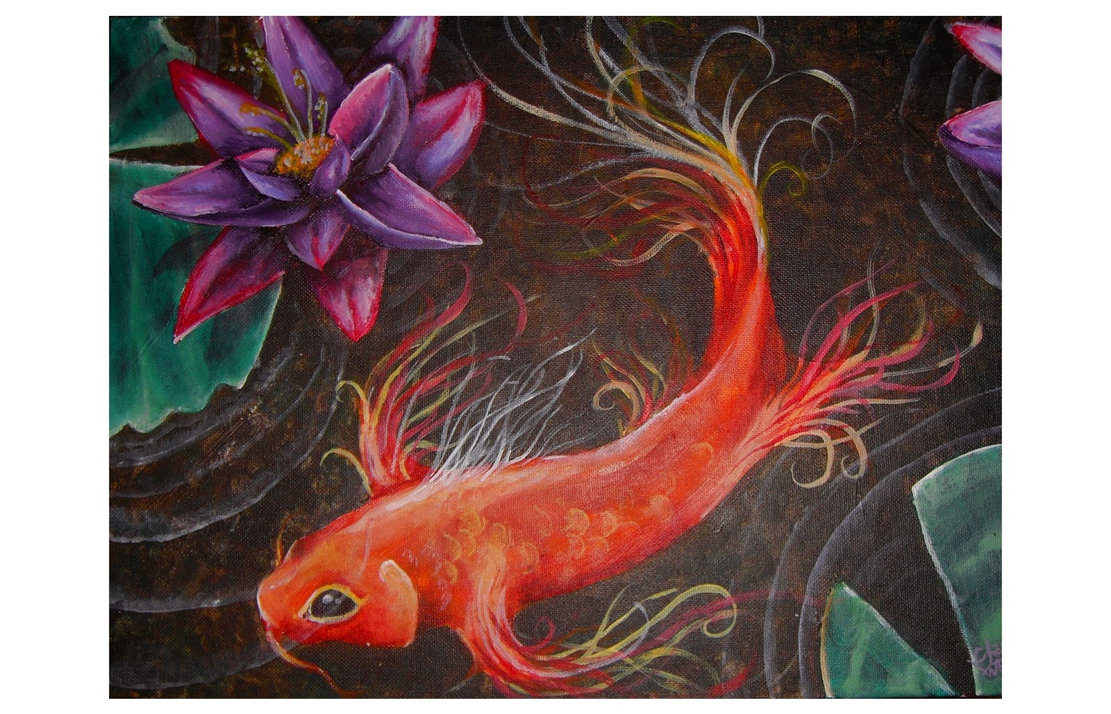 Ravenfic reviews across the universe by beth revis for Koi fish paintings prints
