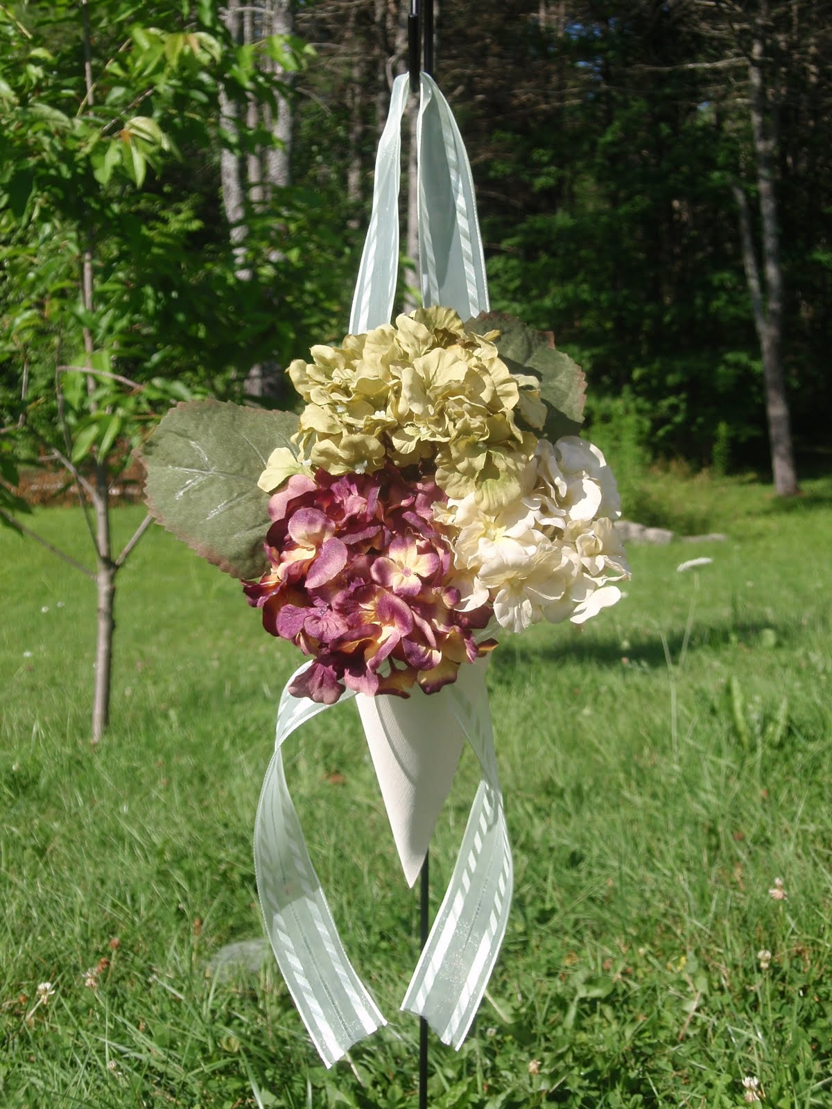 Our Day In The Making DIY Wedding Arch And Flower Cones
