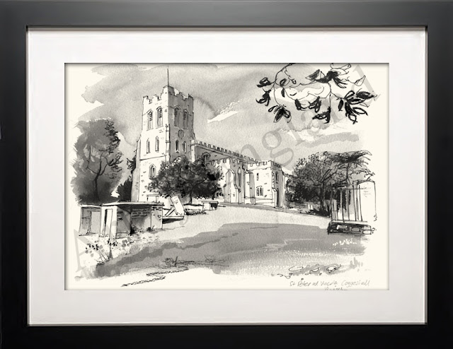 Coggeshall Essex art drawing