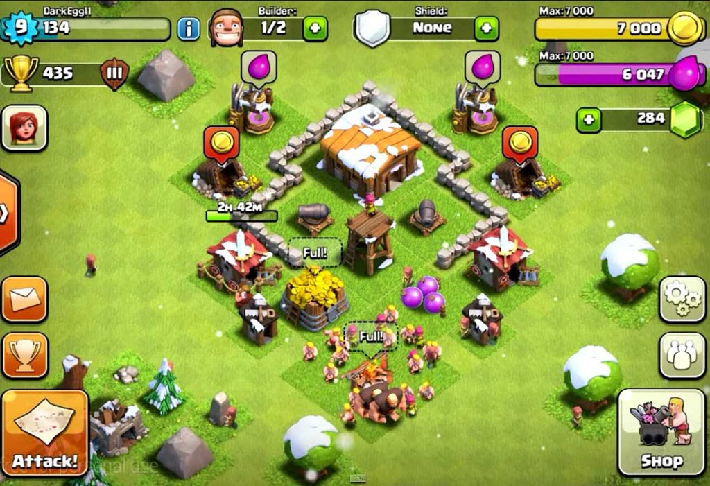 Kumpulan peta base clash of clans town hall 2 pedialicious for Html table th 2 rows