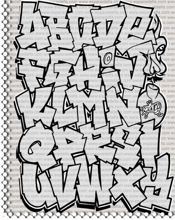 Abjad Gambar Tulisan Graffiti Www Bilderbeste Com