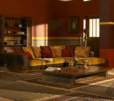 Conseguir un dise o de decoraci n colonial top deco - Salon colonial design ...