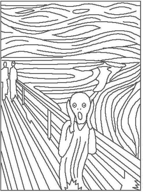 Munch The Scream Coloring Page