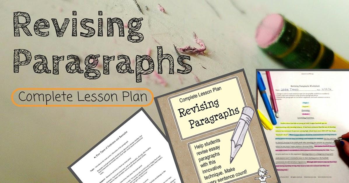 revising essays lesson plans