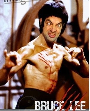 Face Mr. Bean Bruce lee