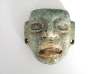 Olmec jade maskette of a young ruler