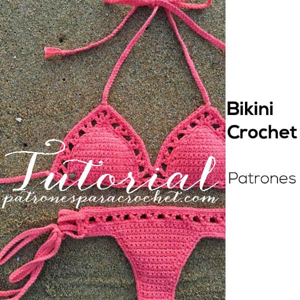 Tutorial de bikini tejida al crochet paso a paso