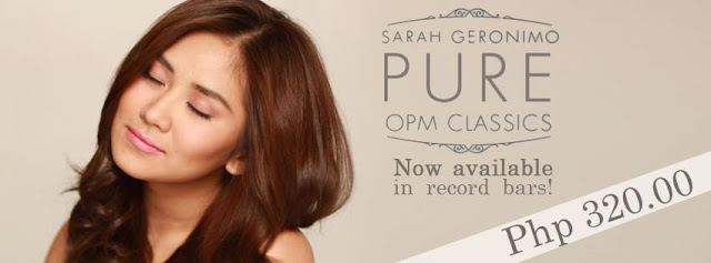 Sarah Geronimo Pure OPM Classics Album Now Available in Record Bars Nationwide!