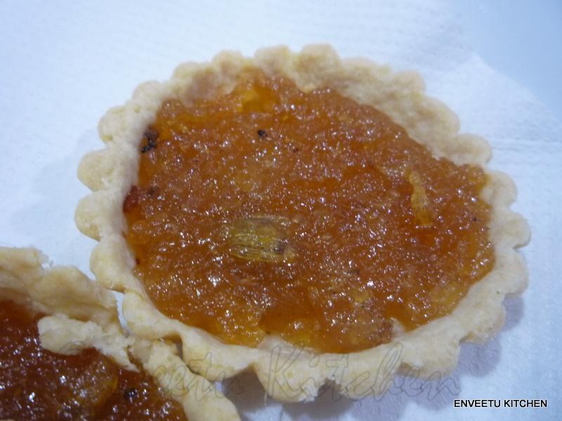 Apple Halwa Tarts for Sweet Punch October 2011 | Enveetu Kitchen