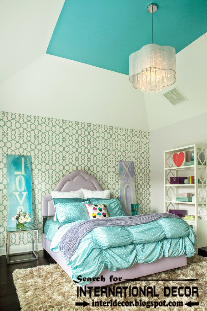 painted ceiling designs for nursery, turquoise ceiling designs, nursery ceilings