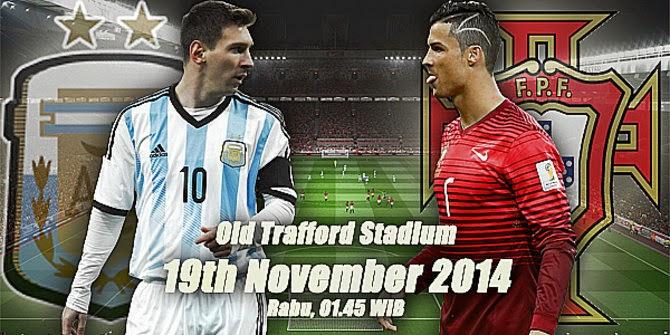 Argentina vs Portugal 19 Novemver 2014