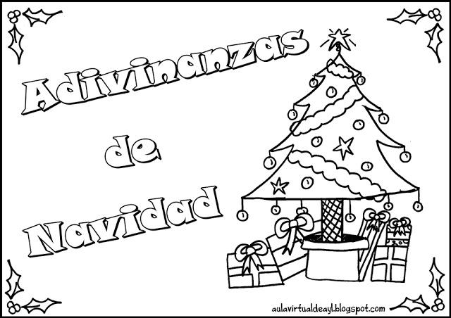 Sgblogosfera mar a jos arg eso adivinanzas navide as for Actividades de navidad para colorear
