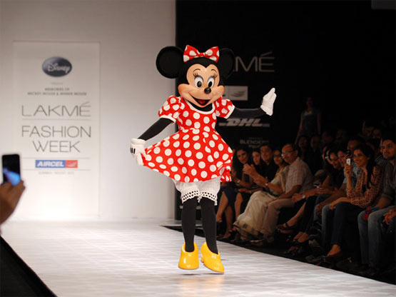 Minnie Mouse London Fashion week 2012