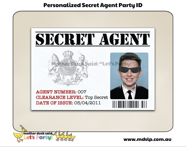Custom Card Template » Spy Id Card Template - Free Card Template