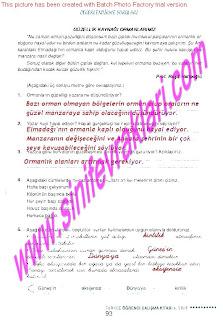 6.Sinif  Turkce Doku Yayinlari Ogrenci Calisma Kitabi Sayfa 93