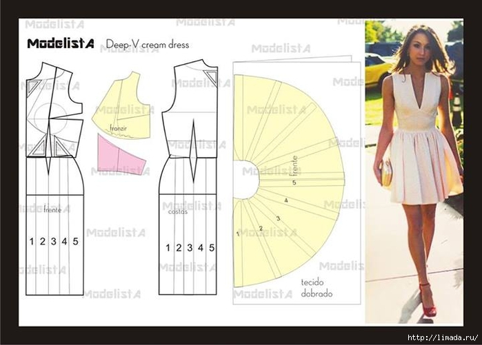 Сшить платье с выкройкой