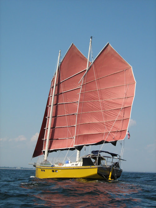 Terrapin under sail