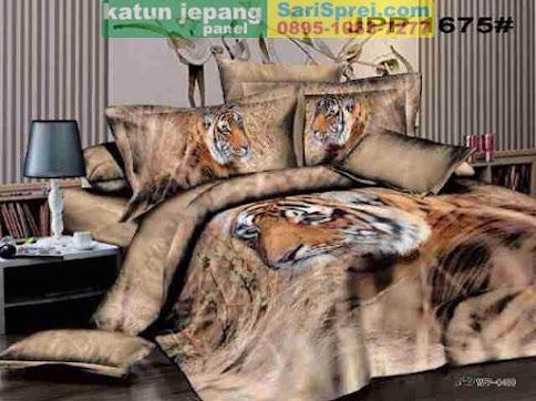 Sprei Katun Jepang Panel Kepala Macan