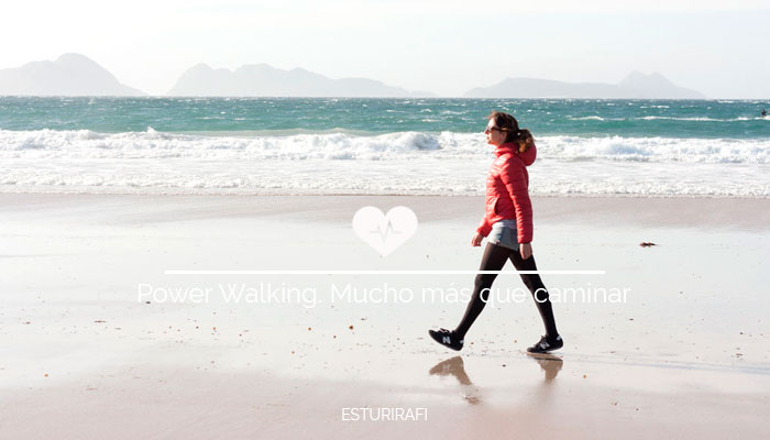 Caminar por la playa, islas cies, arena, power walking