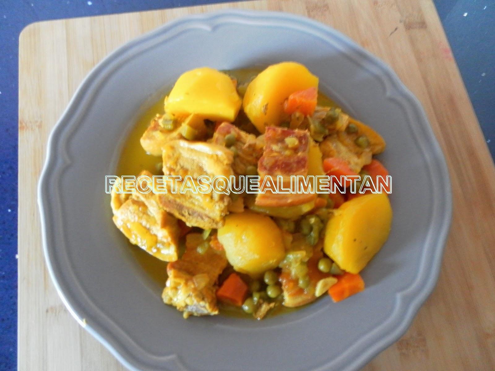 Recetas que alimentan guiso de panceta y patatas en olla r pida - Patatas en olla rapida ...