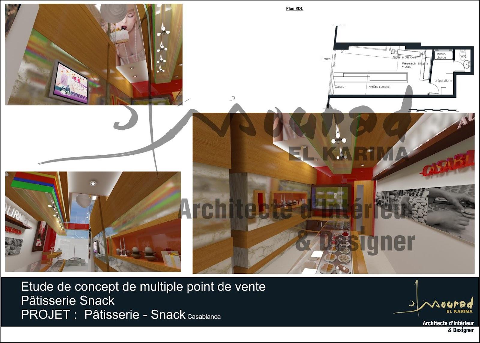 Etude d 39 un concept de point de vente p tisserie snack for Etude architecte d interieur