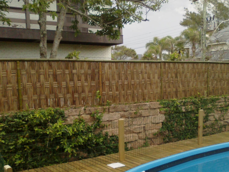 Muro Alto De Bambu Bambu Tramado