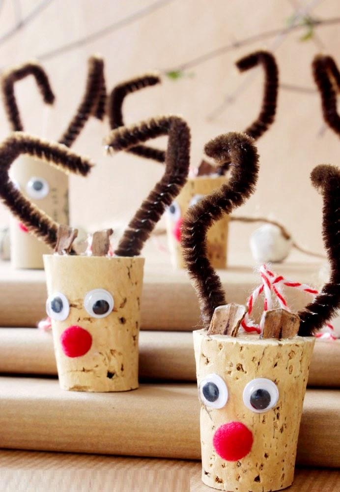 DIY, Renos de Navidad con Corchos