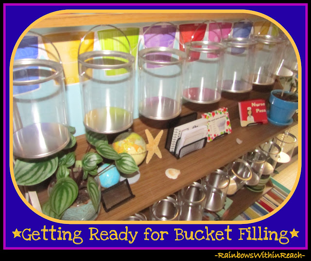 photo of: Fill Your Bucket in First Grade Classroom