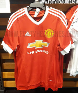 gambar detail jersey MAnchester united home resmi official Gambar photo jersey Manchester United home resmi Adidas musim 2015/2016 di enkosa sport