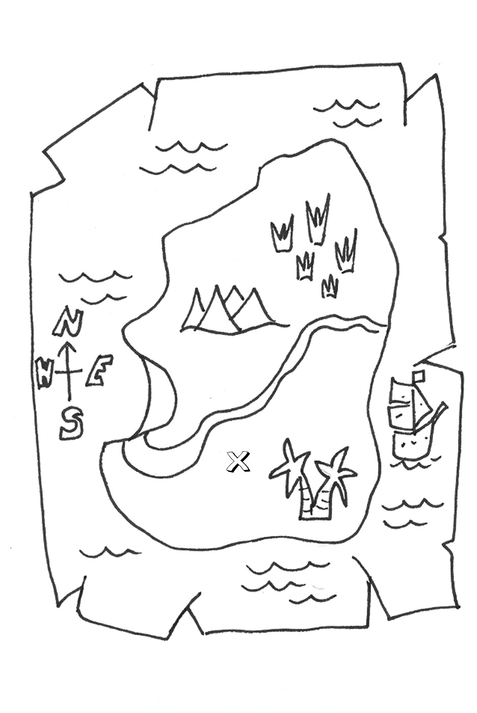 coloring pages of a map - photo#5
