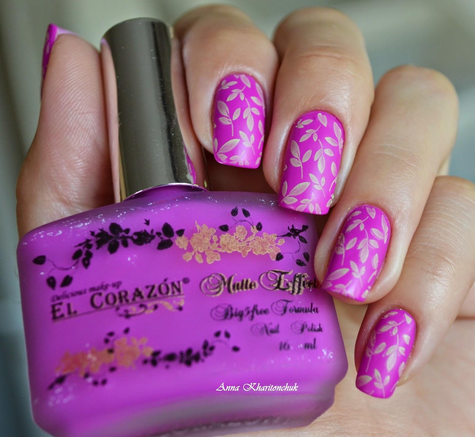 El Corazon Matte Effect 147-neon и стемпинг Lesly