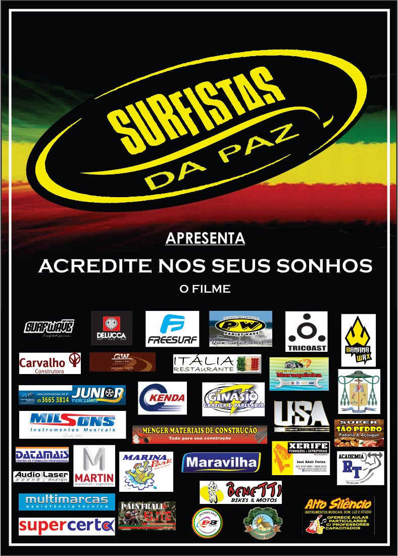 Cartaz com Patrocinadores do Filme