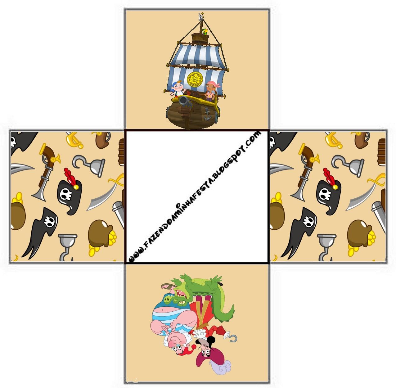 Cajitas Imprimibles De Jake Y Los Piratas De Nunca Jam  S
