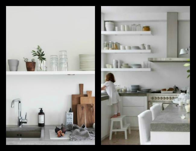 Minimalistische keuken met scandinavische invloeden