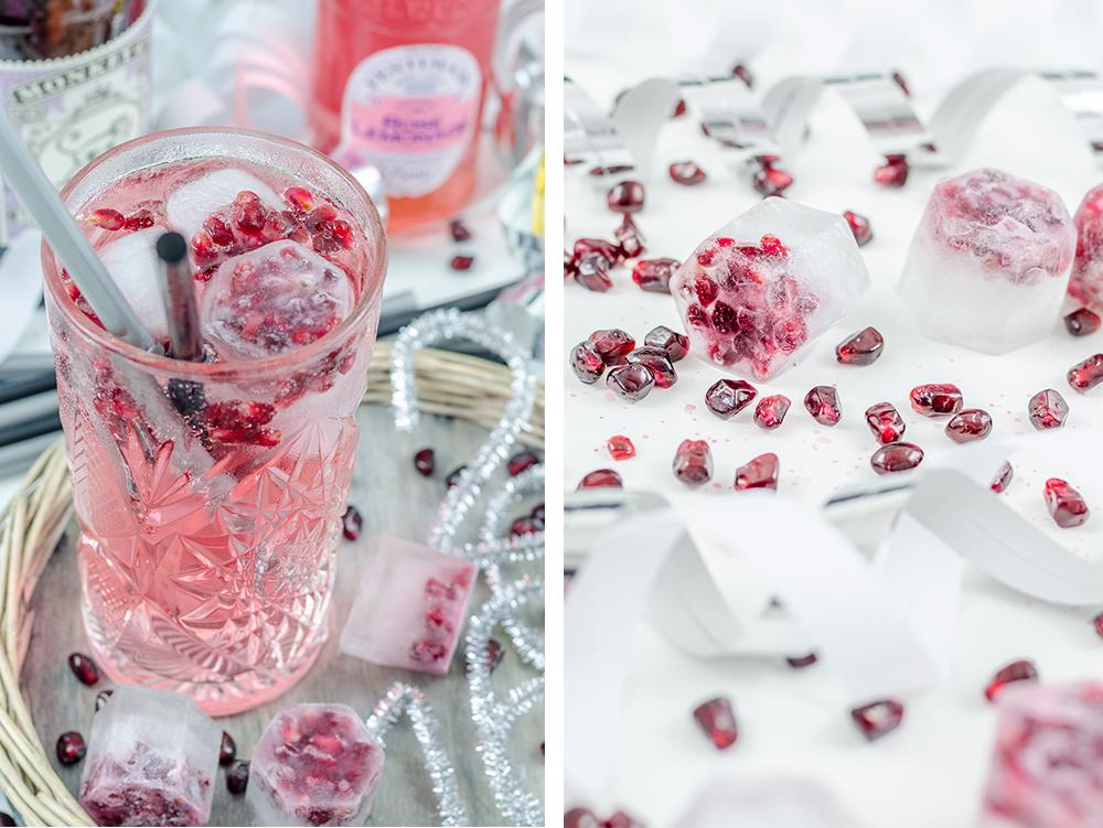 sarahs krisenherd happy new year pomegranate and rose gin tonic. Black Bedroom Furniture Sets. Home Design Ideas