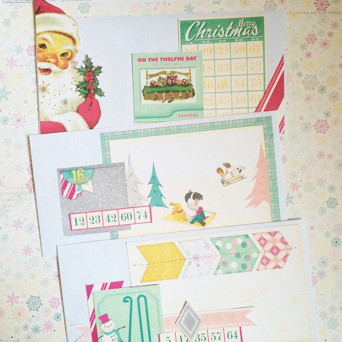 Envelopes for the advent calendar by Evgenia Petzer using Candy Cane Lane