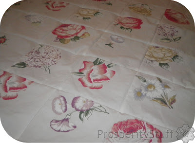 ProsperityStuff Window Quilt - floral sheet