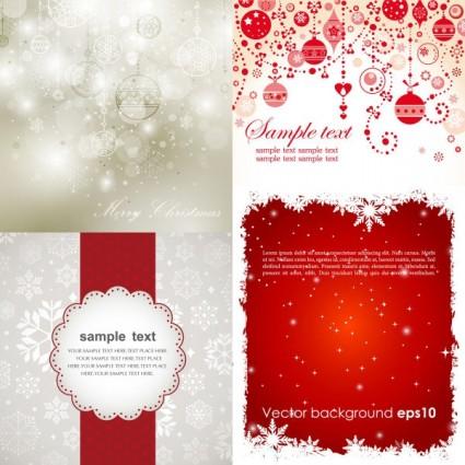 vectores de fondos navideños
