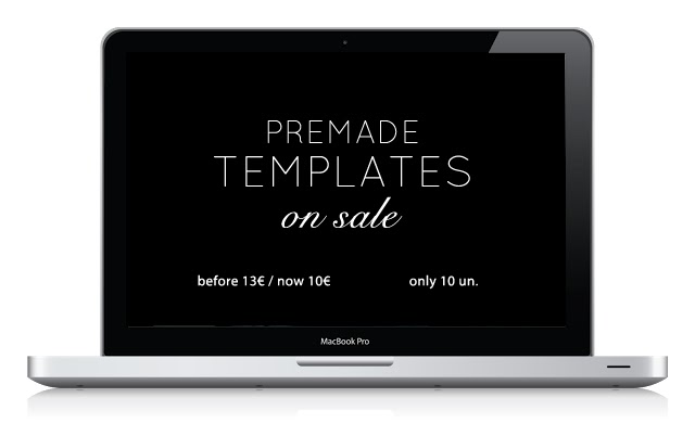 Premade Templates on sale