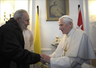 Benedicto XVI se reúne con Fidel Castro