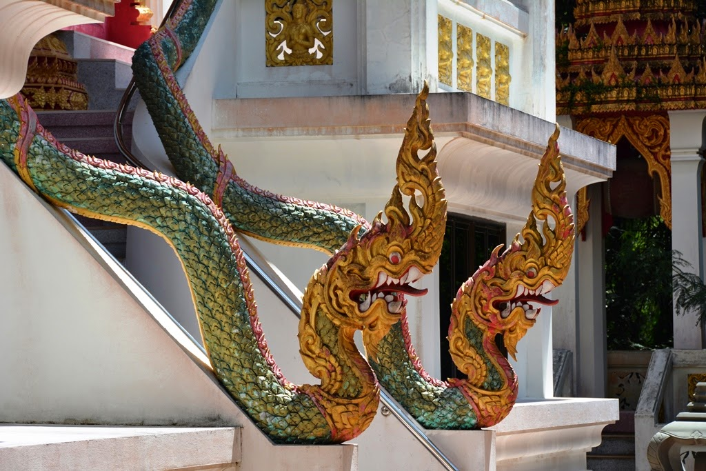 Wat Mai Khao Temple Phuket dragons