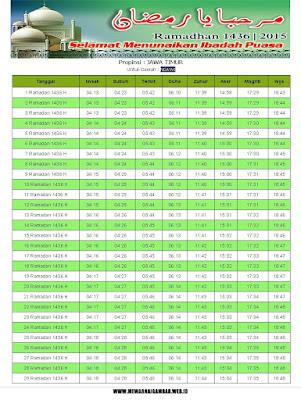 Jadwal Imsakiyah Ngawi Ramadhan 1436 H