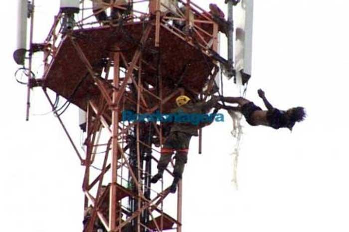 Saulo de Assis Lima passou pelo menos nove horas na torre (Foto: Reprodução/Site Rondônia em Pauta)