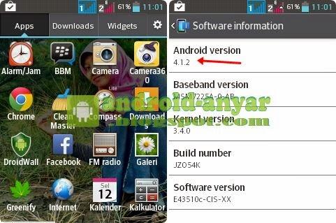 Gambar di atas adalah Android saya, LG Optimus L3 E435 sebelum ...