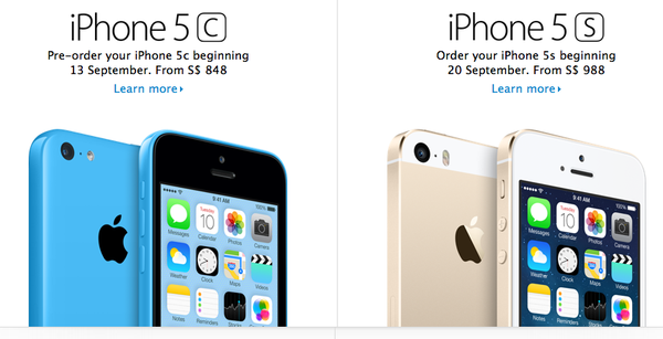 Giá khởi điểm iPhone 5C từ 14,3 triệu đồng; 5S từ 16,7 triệu đồng phiên bản quốc tế