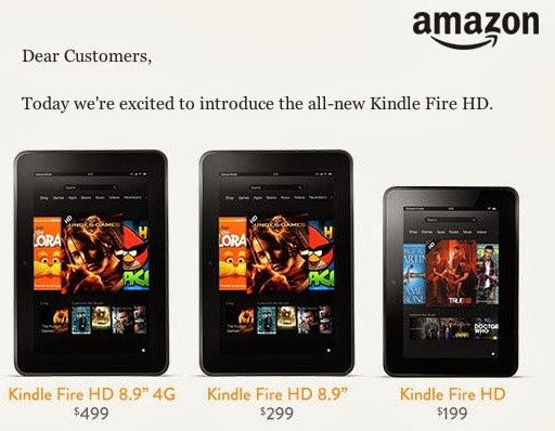 Amazon unveils new Kindle Fire HDX tablets