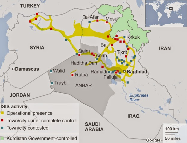 ISIS corridors begin in Turkey and end in Baghdad