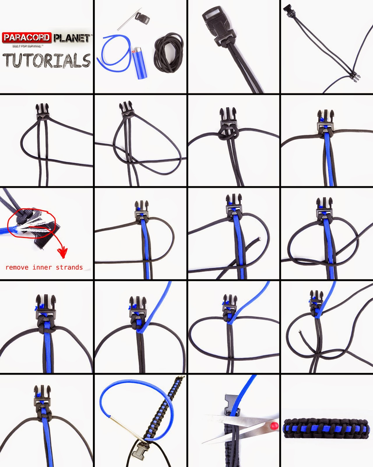 instructions on how to make a paracord bracelet