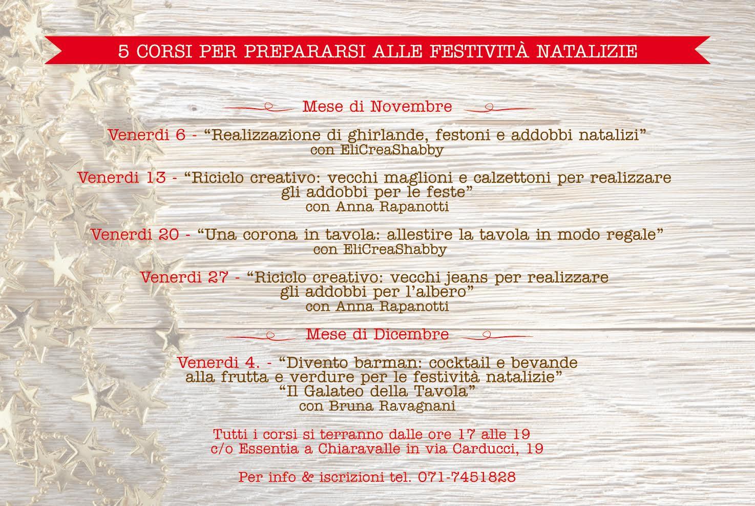 Prossimi corsi presso l'Essenti Decor di Chiaravalle